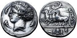 Ancient Coins - Electrotype of a Sicily Syracuse AR Dekadrachm
