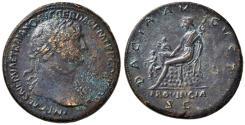 Ancient Coins - Trajan AE sestertius - DACIA AUGUSTA PROVINCIA - 19th.C. electroype