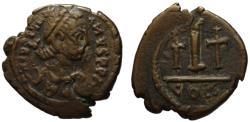 Ancient Coins - Justinian AE decanummium - Rare Constantine in Numidia mint - VF+