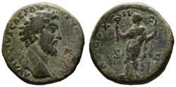 Ancient Coins - Marcus Aurelius as Caesar AE sestertius - FELICITAS - 158 AD