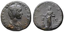 Ancient Coins - Julia Maesa AE sestertius - PIETAS - Fine style portrait