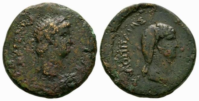 Ancient Coins - Nero & Poppaea AE 29mm - Galatia mint - Very Scarce