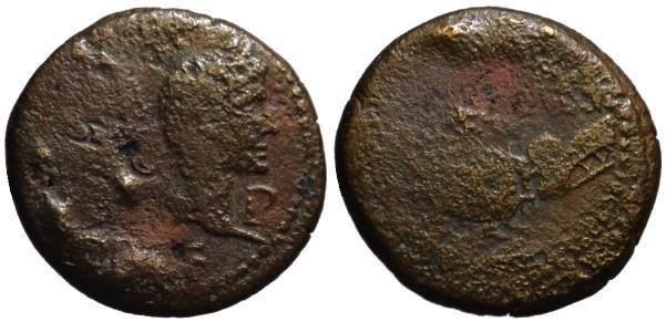 Ancient Coins - Augustus & Agrippa AE dupondius - Nemausus