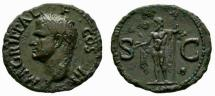 Ancient Coins - Agrippa AE As - NEPTUNE - good VF and pleasant patina