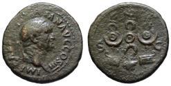 Ancient Coins - Vespasian AE As - Aquila & Standards & Prows - Rare