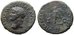Ancient Coins - Nero AE dupondius - VICTORIA AVGVSTI II - Good VF