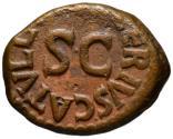 Ancient Coins - Augustus AE quadrans - Altar & Large SC - L. Valerius Catullus - Rare moneyer
