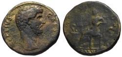 Ancient Coins - Aelius Caesar AE sestertius - SALUS - Rare