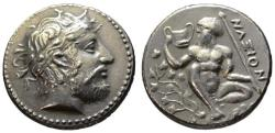 Ancient Coins - Sicily Naxos tetradrachm - BMC Electrotype dies by Becker