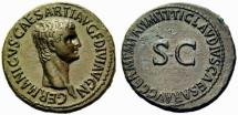Ancient Coins - Germanicus AE As - Large SC under Claudius - Suberb EF +