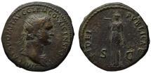 Ancient Coins - Domitian AE dupondius - FIDEI PUBLICAE - Fides - Great Aegis