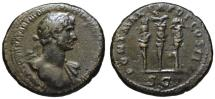 Ancient Coins - Hadrian AE As - Aquila & Military Standards - Rare