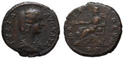 Ancient Coins - Julia Domna AE As - Cybele MATER DEUM - Rare