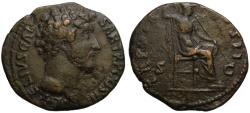 Ancient Coins - Marcus Aurelius as Caesar AE As - MINERVA