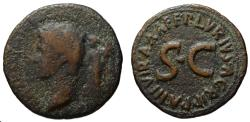 Ancient Coins - Augustus AE dupondius by Lurius Agrippa  - Triumphal Coinage series - Extremely rare