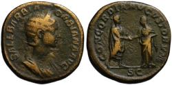 Ancient Coins - Orbiana AE sestertius - Clasping Hands - Commemorating the imperial marriage