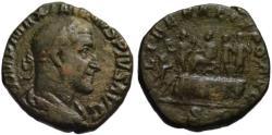 Ancient Coins - Maximinus AE sestertius - LIBERALITAS scene - Rare