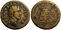 Ancient Coins - Divus Antoninus Pius AE sestertius - CONSECRATIO - Pyre