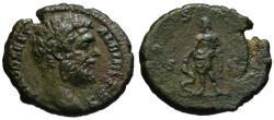 Ancient Coins - Clodius Albinus AE As - AESCULAPIUS - Rare VF+