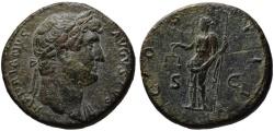Ancient Coins - Hadrian AE sestertius - AEQVITAS - Bold portrait