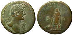 Ancient Coins - Hadrian AE sestertius - The Cancellation of Public Debt - Very Rare (R2) VF