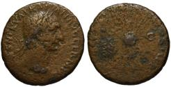 Ancient Coins - Trajan AE As - Victory holding SPQR shield