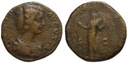 Ancient Coins - Julia Domna AE sestertius - VENUS FELIX - 199 AD