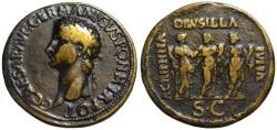 Ancient Coins - Paduan cast medal afer Cavino - CALIGULA sestertius - 3 sisters