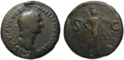 Ancient Coins - Domitian AE sestertius - MARS - Very Rare Balkan mint - under Titus