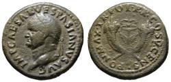 Ancient Coins - Vespasian AE dupondius - Caduceus & Crossed Cornucopias - Scarce (S) bold VF