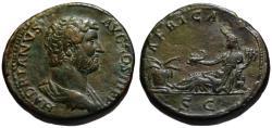 Ancient Coins - Hadrian AE sestertius - AFRICA - aEF Rare