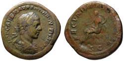 Ancient Coins - Elagabalus AE sestertius - FECUNDITAS AUGUSTAE - Ext. Rare unlisted Hybrid