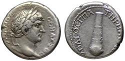 Ancient Coins - Hadrian AR didrachm - CLUB - gVF - Caesarea mint