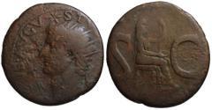 Ancient Coins - Divus Augustus AE as - LIVIA - Struck under Tiberius 15-16 AD