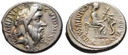 Ancient Coins - C. Memmius AR denarius - QUIREINUS - Almost EF rare var.
