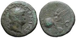 Ancient Coins - Nero AE As - VICTORY - Rome mint
