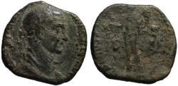 Ancient Coins - Trajan Decius AE sestertius - Genius Of the Illyrian Legion