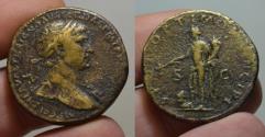 Ancient Coins - Trajan AE sestertius - PAX trampling Dacian