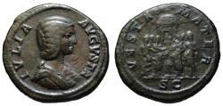 Ancient Coins - Julia Domna AE As - VESTA MATER - Very Rare (R2)