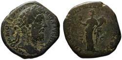 Ancient Coins - Commodus AE sestertius - LIBERALITAS with abacus & cornucopia