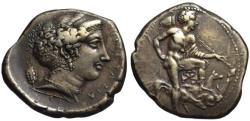 Ancient Coins - 19thC. BMC electrotype - Segesta AR tetradrachm - Hunter Aigestes
