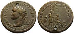 Ancient Coins - Paduan struck medal by Cavino - TITUS sestertius - Iudaea Capta