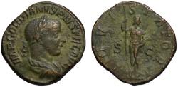 Ancient Coins - Gordian III AE sestertius - IOVI STATORI - Jupiter
