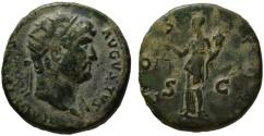 Ancient Coins - Hadrian AE dupondius - AEQUITAS - VF