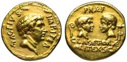 Ancient Coins - Sextus Pompey AV aureus - Commander of the Fleet & Sea Coasts - Extr. Rare