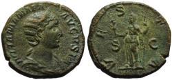 Ancient Coins - Julia Mamaea AE sestertius - VESTA - Good VF