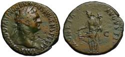 Ancient Coins - Domitian AE As - MONETA AUGUSTI - Great patina