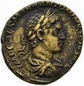 Ancient Coins - Elagabalus AE sestertius - SOL HELIOS - Great portrait