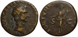 Ancient Coins - Nerva AE dupondius - FORTUNA