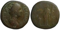 Ancient Coins - Diva Faustina AE sestertius - CONSECRATIO - under Antoninus Pius